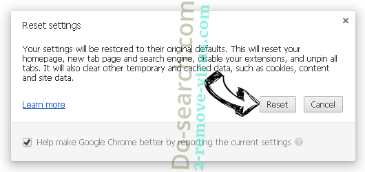 Myhomepage123.com Chrome reset