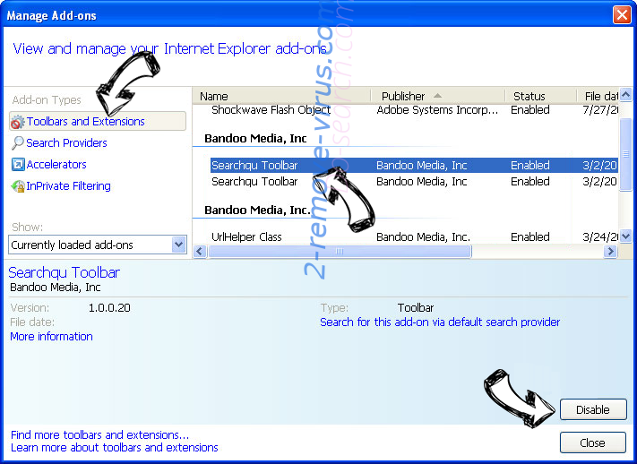 Do-search.com IE toolbars and extensions