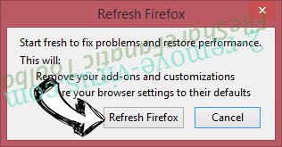 Spicy Search Virus Firefox reset confirm