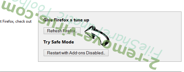 Spicy Search Virus Firefox reset