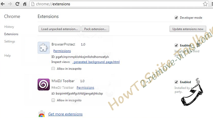 Trojan.GameThief Chrome extensions remove