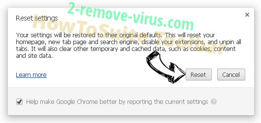 HowToSuite Toolbar entfernen Chrome reset