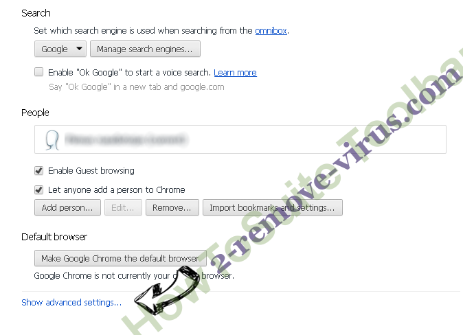 Onlinewebsearch.com.au Chrome settings more