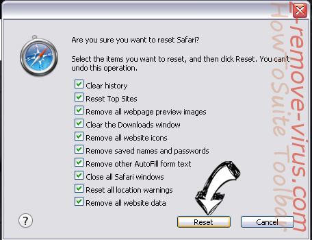 HowToSuite Toolbar Safari reset