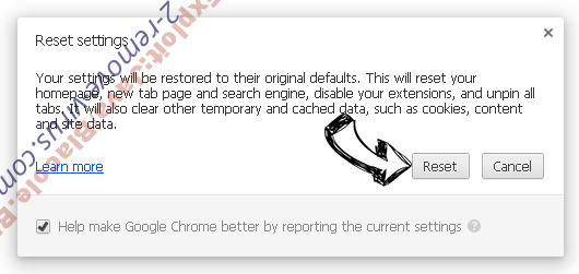 Trojan.Win32 Chrome reset