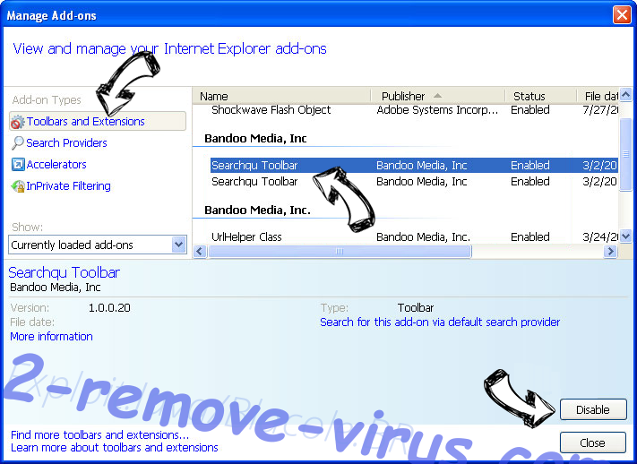 Trojan.Win32 entfernen IE toolbars and extensions