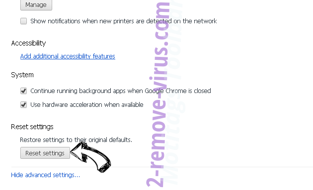 Merge Docs Online Virus Chrome advanced menu