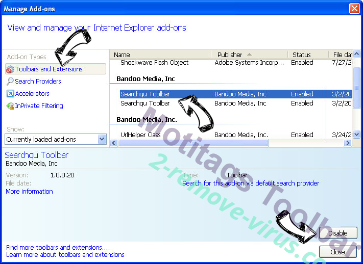 Merge Docs Online Virus IE toolbars and extensions