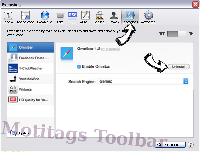 Motitags Toolbar Safari extensions