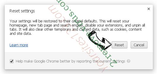 Yoursites123.com Chrome reset