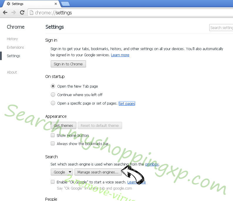 Search.whiteskyservices.com Chrome extensions disable