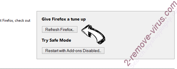 Under-Cover.info Firefox reset