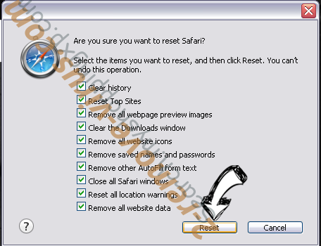 Search.whiteskyservices.com Safari reset