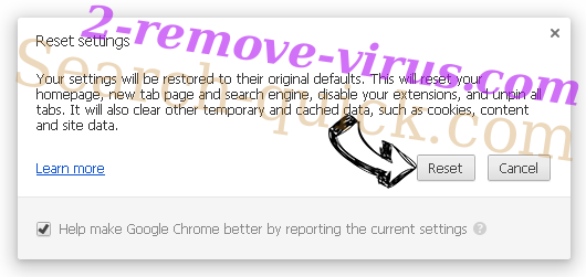 Rambler Search virus Chrome reset