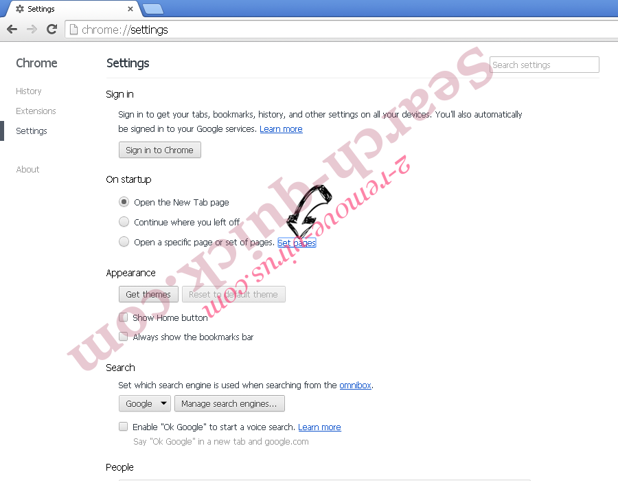 Rambler Search virus Chrome settings