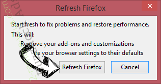 Buzzdock Ads Firefox reset confirm