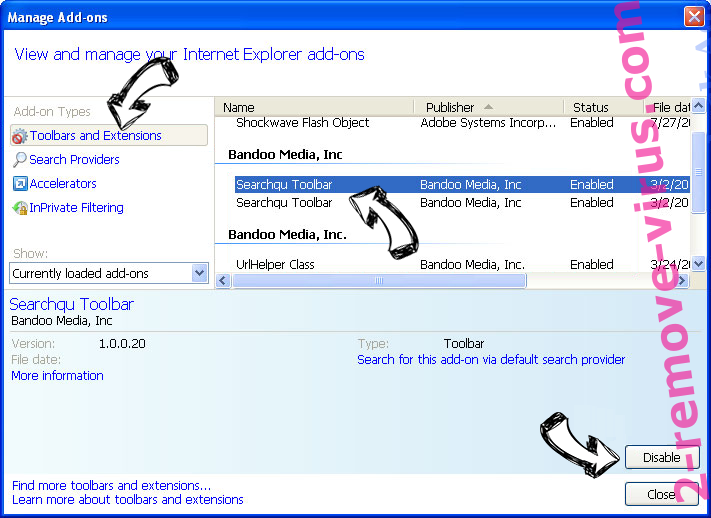 Search.easyemailaccess.com IE toolbars and extensions