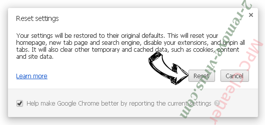 MPC Cleaner Chrome reset