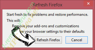 Ads by Serpus Firefox reset confirm