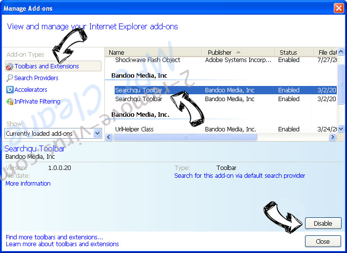 YTLoader adware IE toolbars and extensions