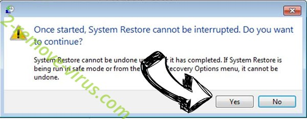 CmdRansomware Virus removal - restore message
