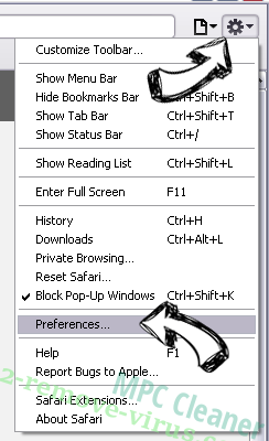 MPC Cleaner Safari menu