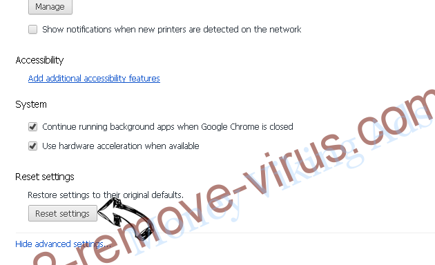 Search.myprivacyswitch.com Chrome advanced menu