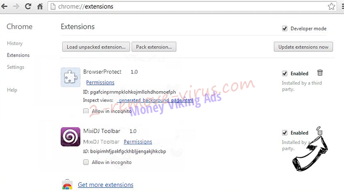 Search.myprivacyswitch.com Chrome extensions remove