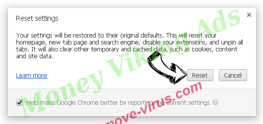 Money Viking Ads Chrome reset