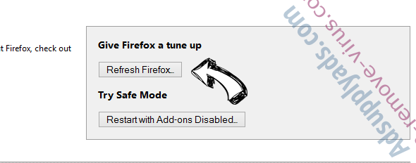 ChromeSearch.win Firefox reset