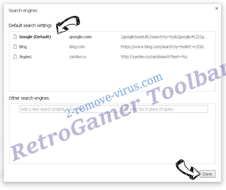 RetroGamer Toolbar Chrome extensions disable