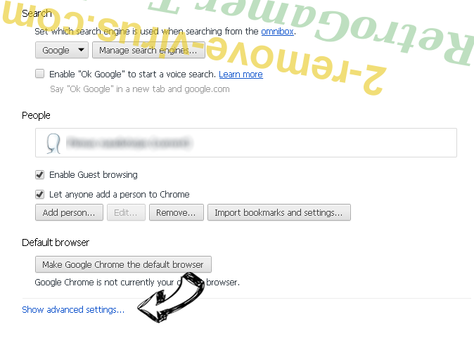 Toroadvertisingmedia.com Chrome settings more
