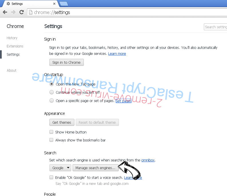 Adf.ly Virus Chrome extensions disable