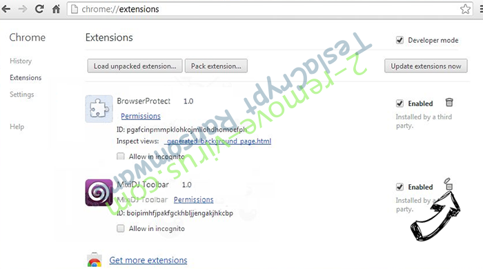 Adf.ly Virus Chrome extensions remove