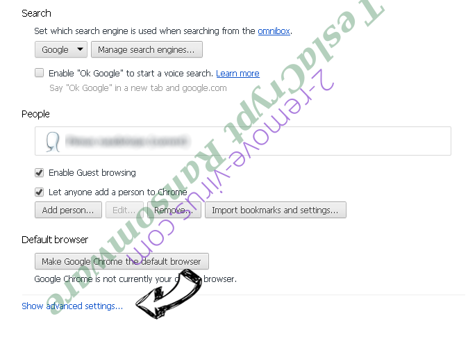 Adf.ly Virus Chrome settings more