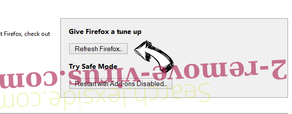 Search.lexside.com Firefox reset