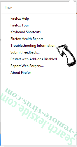 Search.lexside.com Firefox troubleshooting