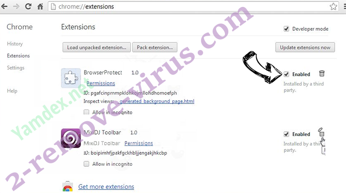 Windows Product Key Expired Scam Chrome extensions disable