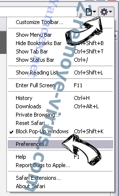 Windows Product Key Expired Scam Safari menu
