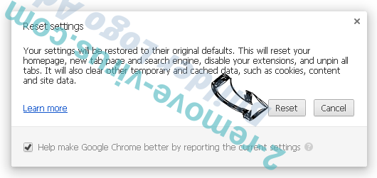 Search.searchw3m.com virus Chrome reset