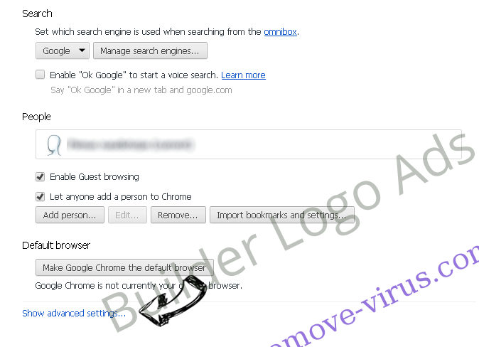 Search.searchw3m.com virus Chrome settings more
