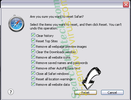 .ccc File Extension Virus Safari reset