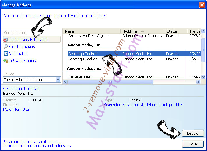 SaferSearchResults.com IE toolbars and extensions