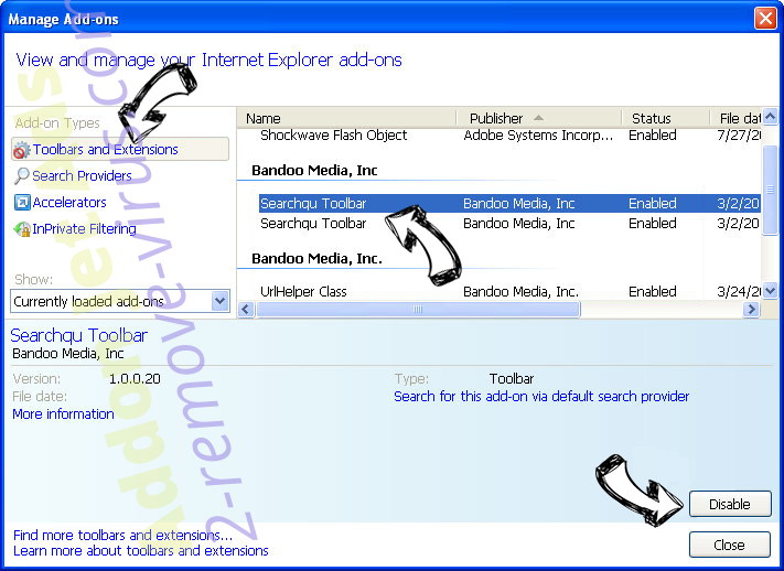 Search.SearchtAccess.com IE toolbars and extensions