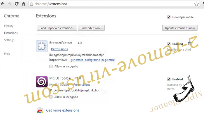 RSA-4096 Virus Chrome extensions remove