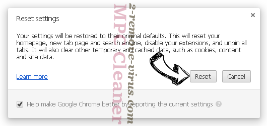 Advanced PC Care Chrome reset