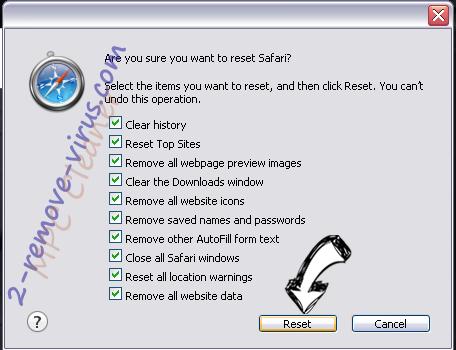 Advanced PC Care Safari reset