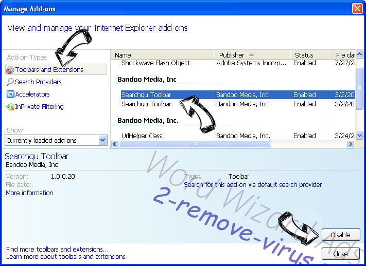 Search.searchwti.com IE toolbars and extensions