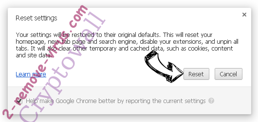 ExcellentSearch.org verwijderen Chrome reset