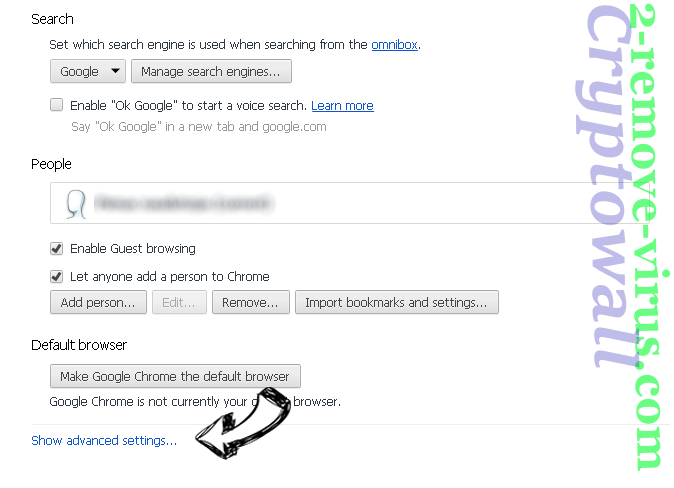Searchinglab.com Chrome settings more